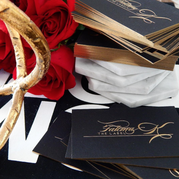 Black and Gold Foil Business Card