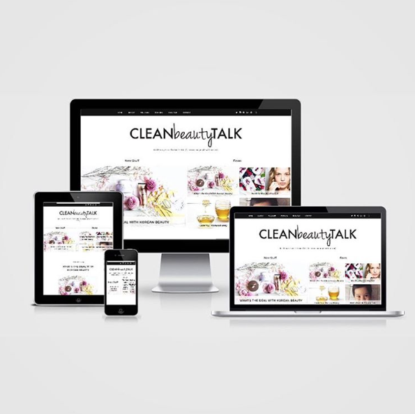 Clean Beauty Talk Blogger Web Design