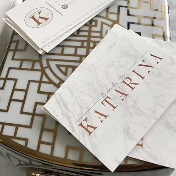 beauty by katarina business cards