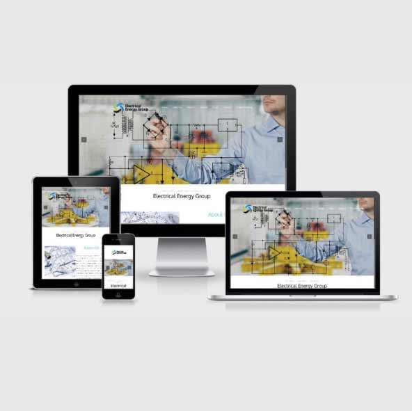 electrical energy group website design