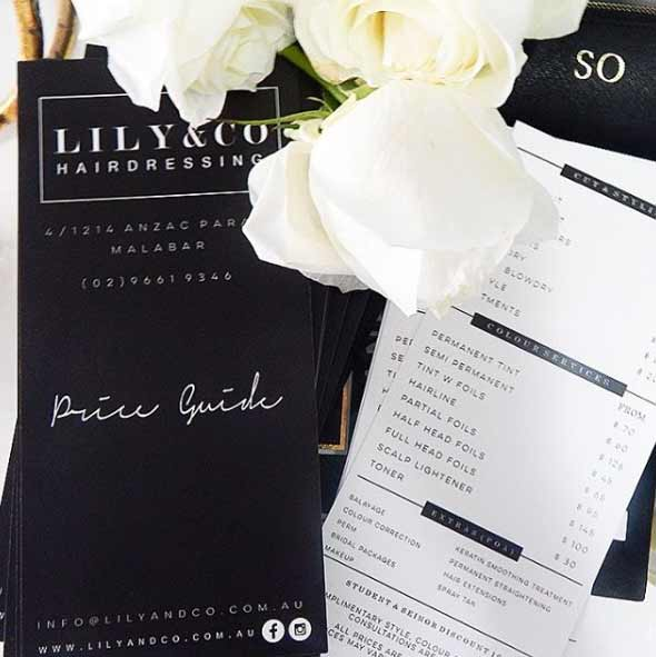 lily and co menu